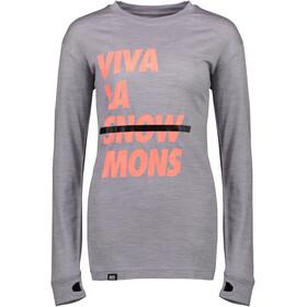 Mons Royale W's Yotei BF Tech LS Grey Marl